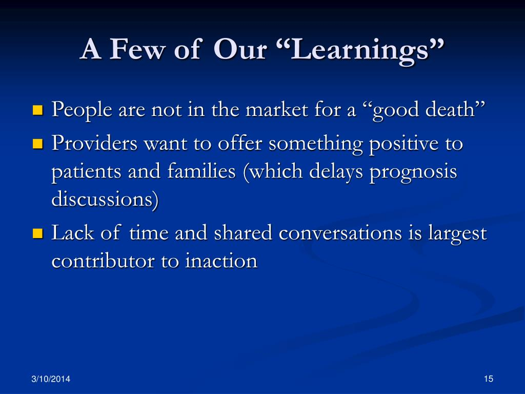 """A Few of Our """"Learnings"""""""