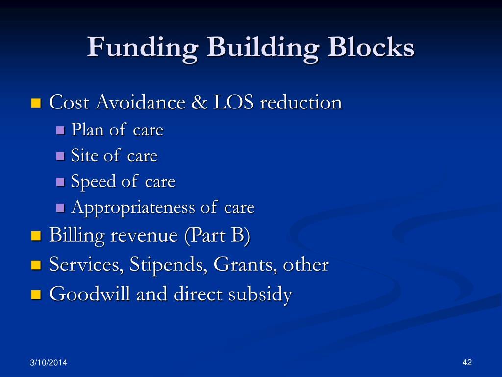 Funding Building Blocks