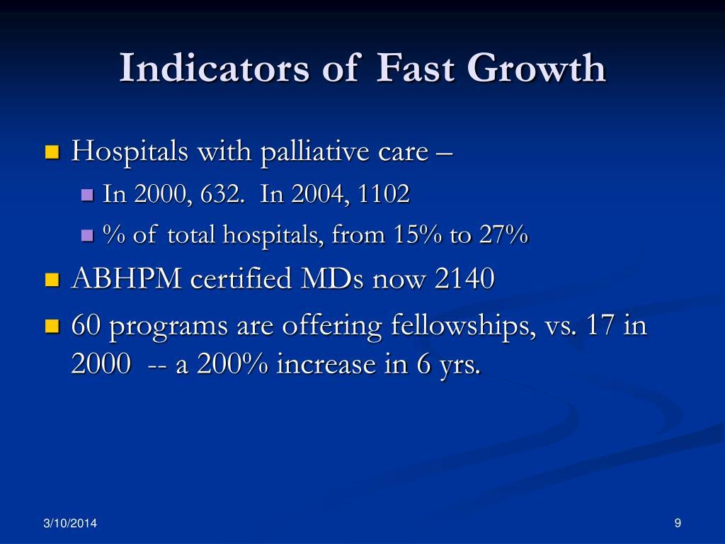 Indicators of Fast Growth