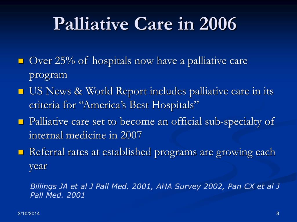 Palliative Care in 2006