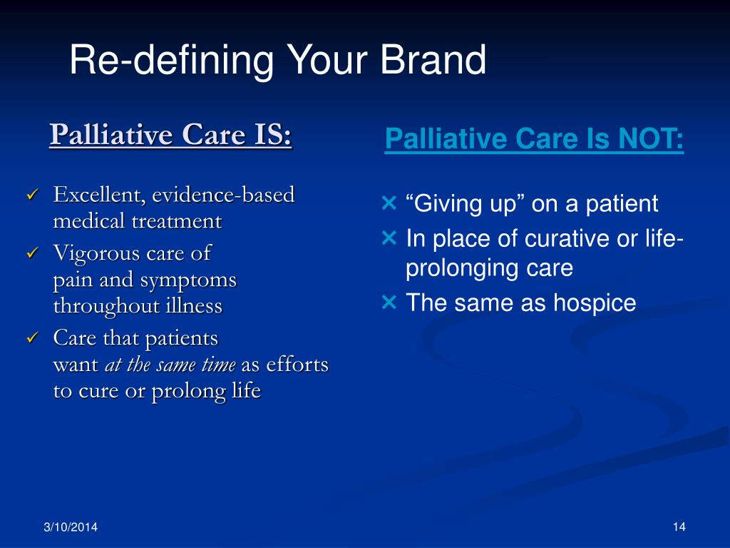 Palliative Care IS: