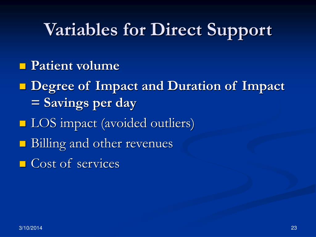 Variables for Direct Support