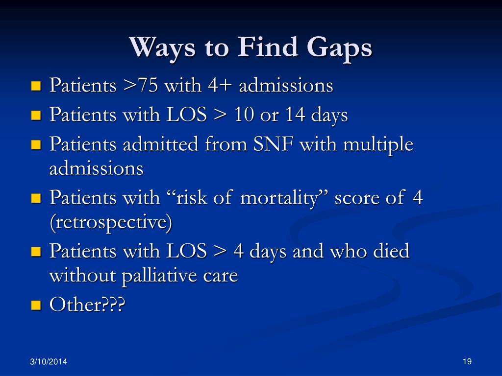Ways to Find Gaps
