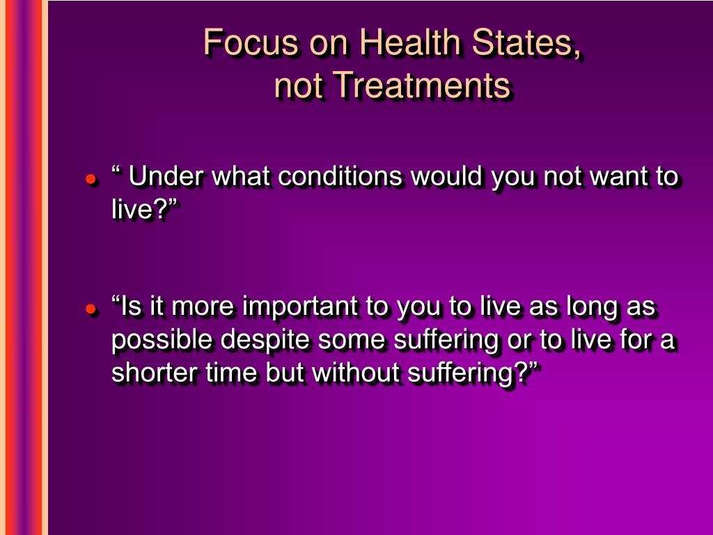 Focus on Health States,
