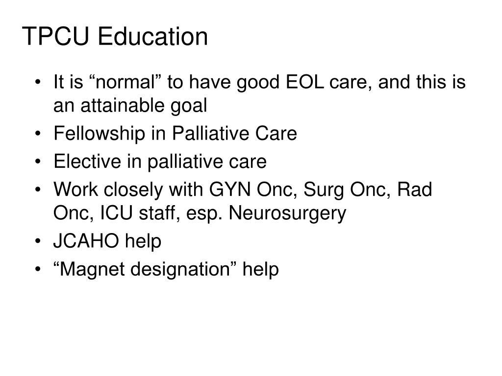 TPCU Education