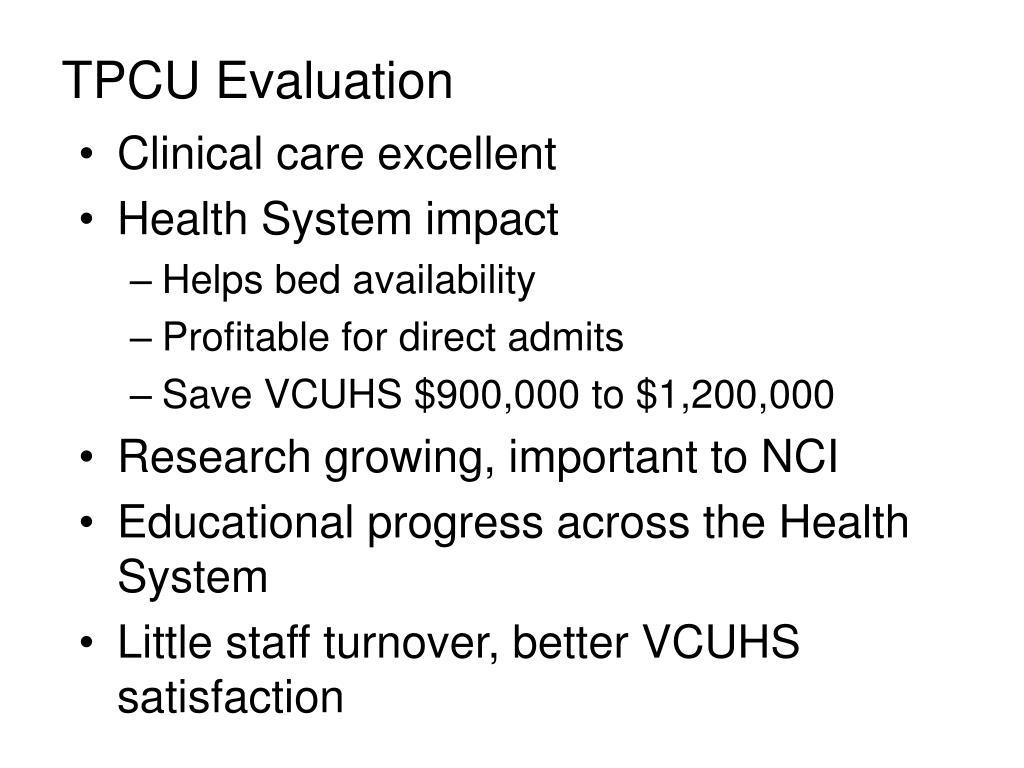 TPCU Evaluation