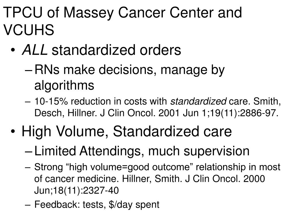 TPCU of Massey Cancer Center and VCUHS