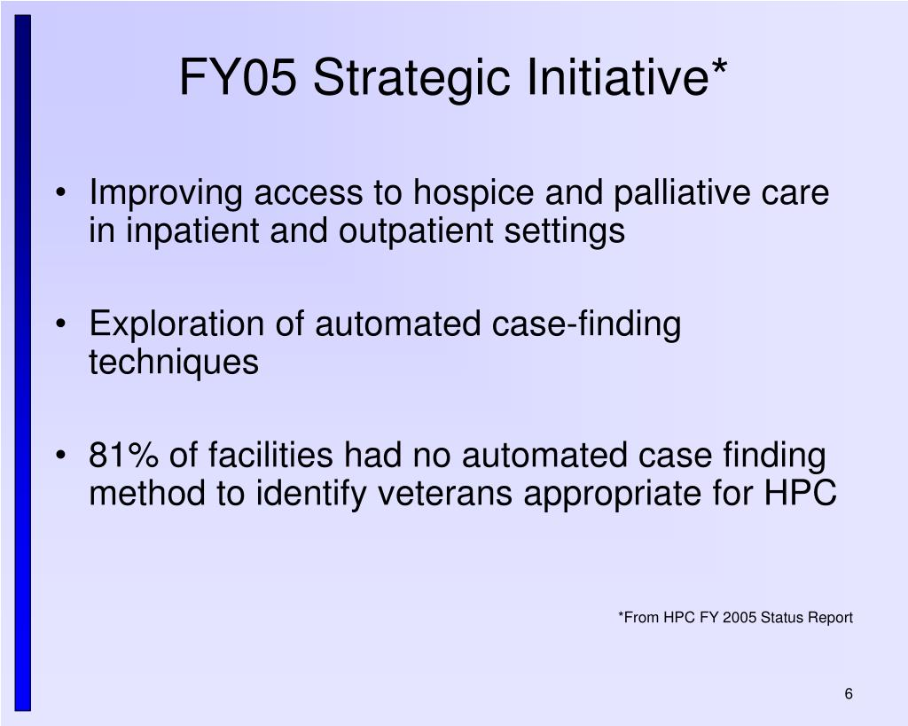 FY05 Strategic Initiative*