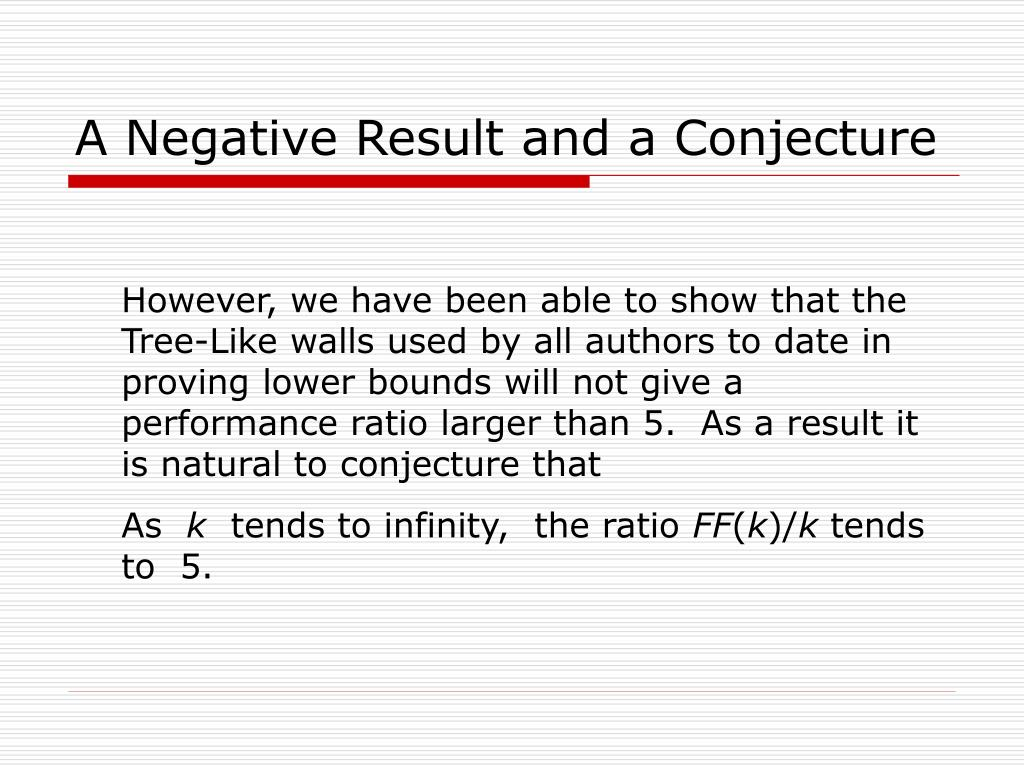 A Negative Result and a Conjecture
