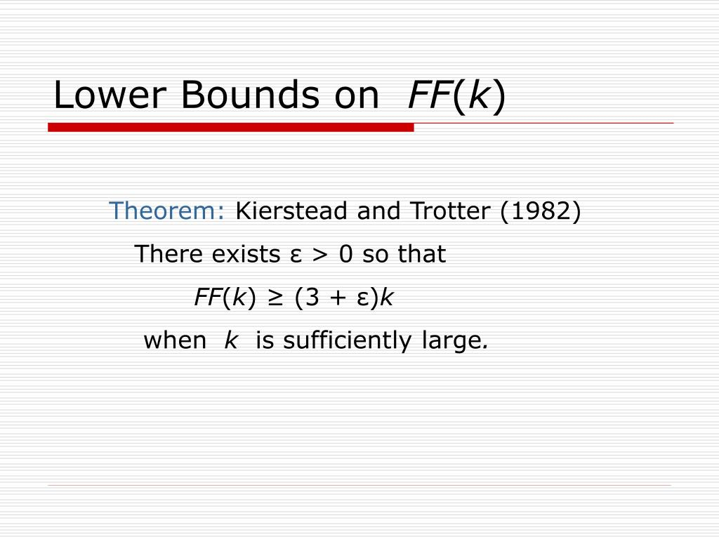 Lower Bounds on