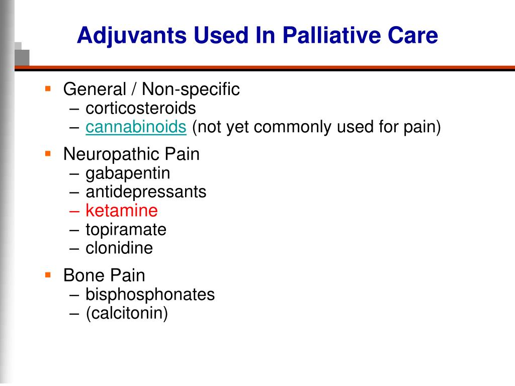 Adjuvants Used In Palliative Care