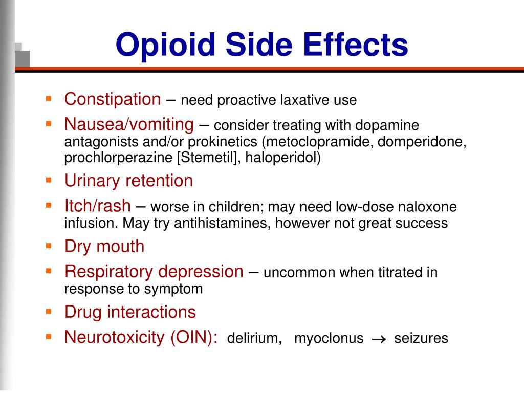 Opioid Side Effects