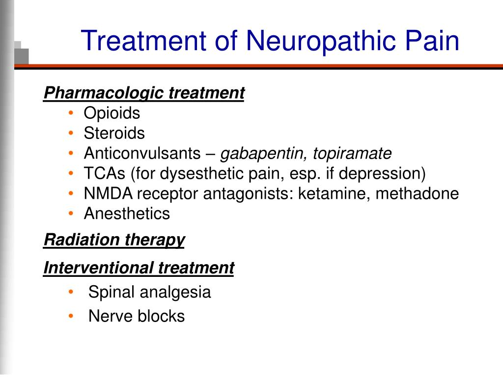 Treatment of Neuropathic Pain