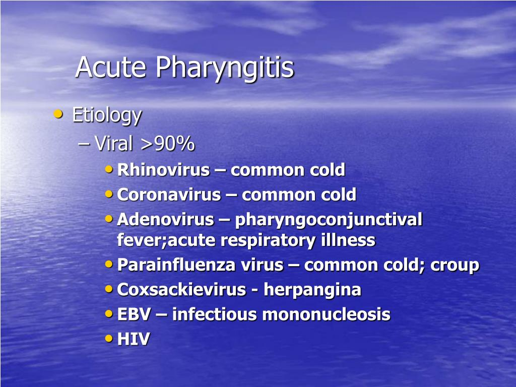 Acute Pharyngitis
