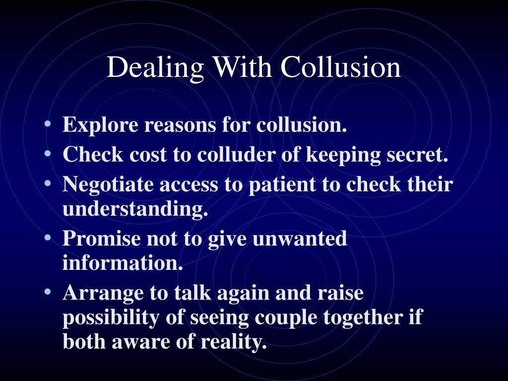 Dealing With Collusion