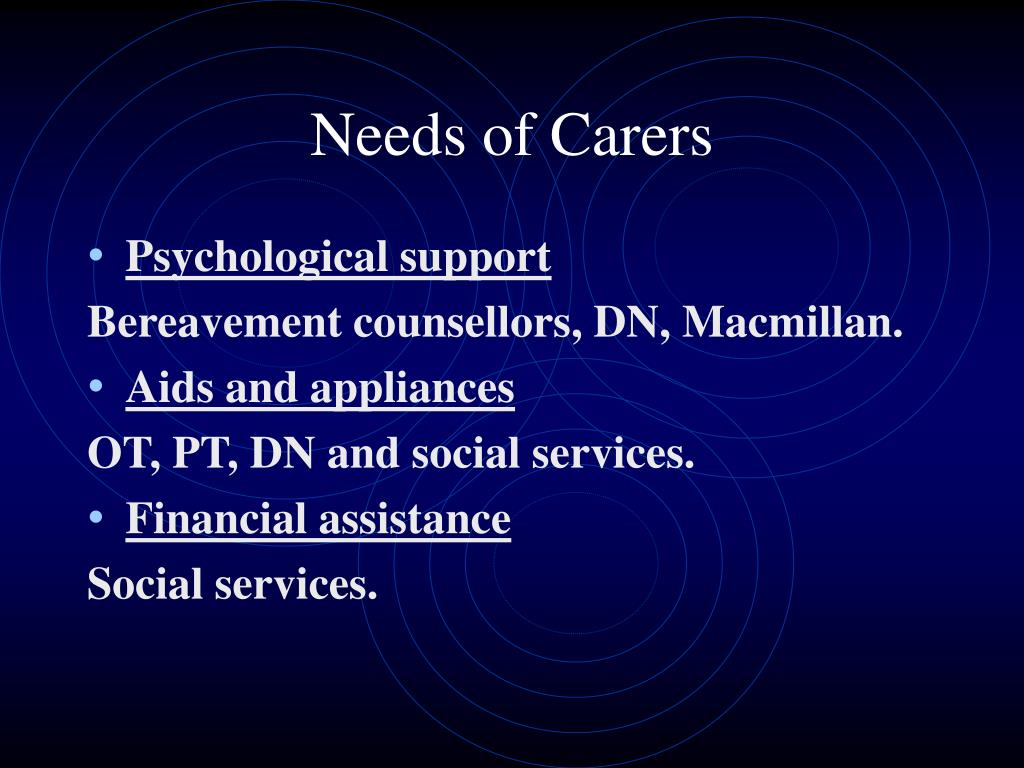 Needs of Carers
