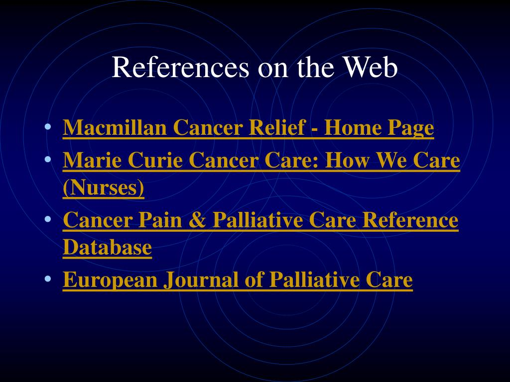 References on the Web