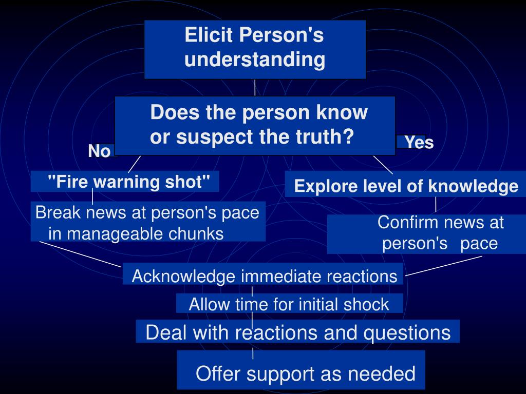 Elicit Person's understanding