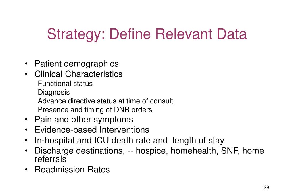 Strategy: Define Relevant Data
