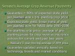 senate s average crop revenue payments22