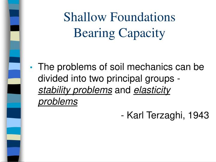 Shallow foundations bearing capacity l.jpg