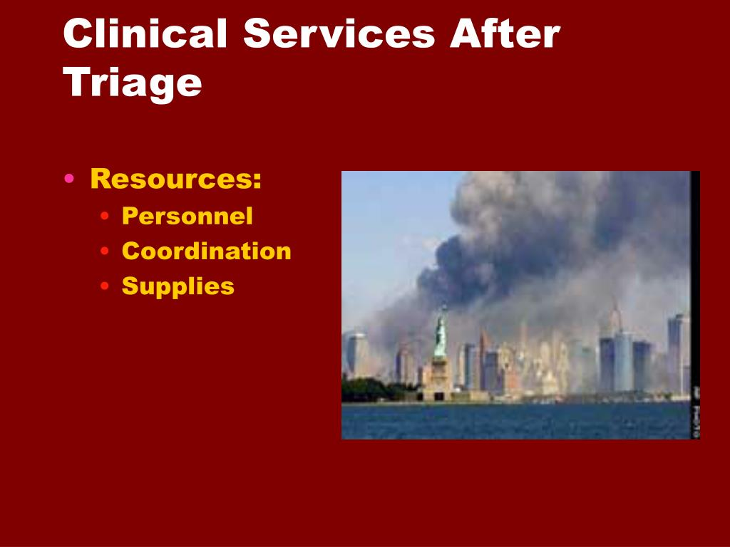 Clinical Services After Triage