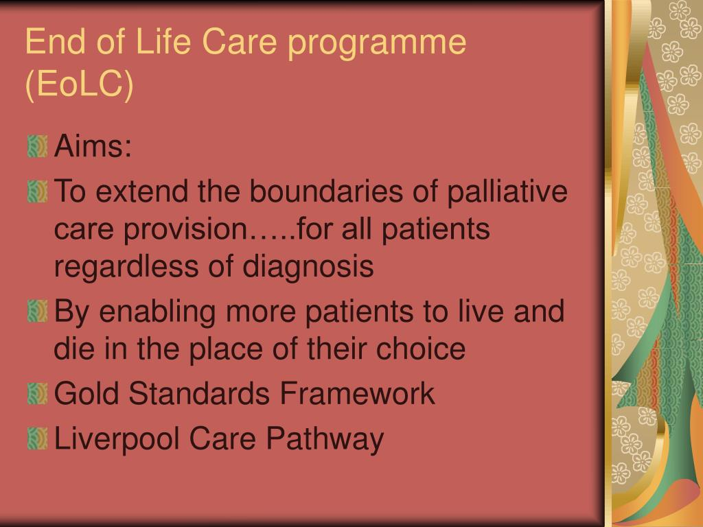 End of Life Care programme (EoLC)