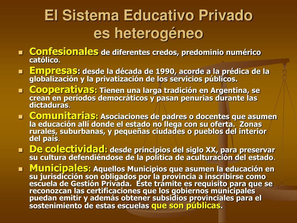 El Sistema Educativo Privado