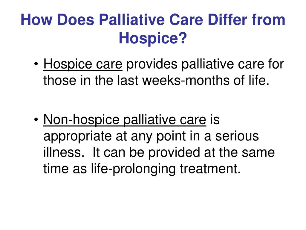 How Does Palliative Care Differ from Hospice?