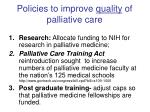 policies to improve quality of palliative care
