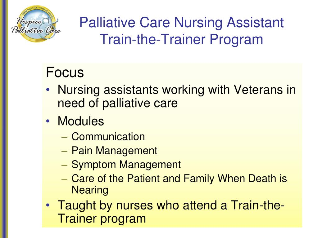 Palliative Care Nursing Assistant