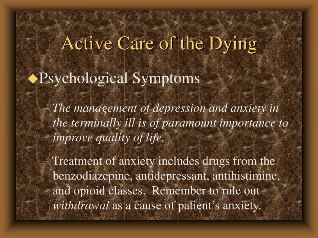 Active Care of the Dying