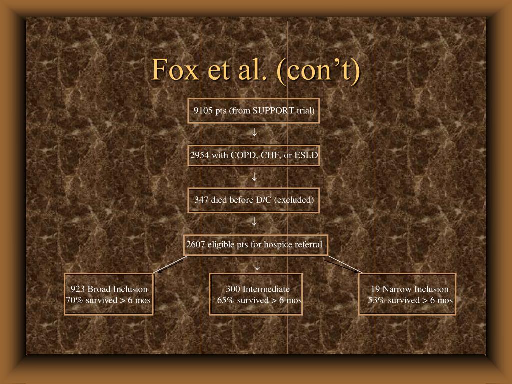 Fox et al. (con't)