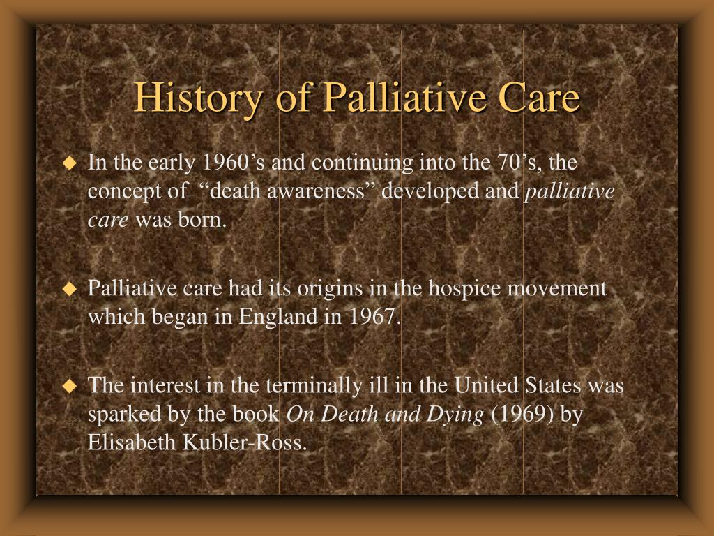 History of Palliative Care