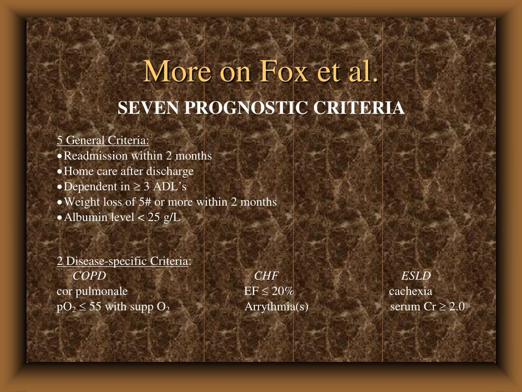 More on Fox et al.
