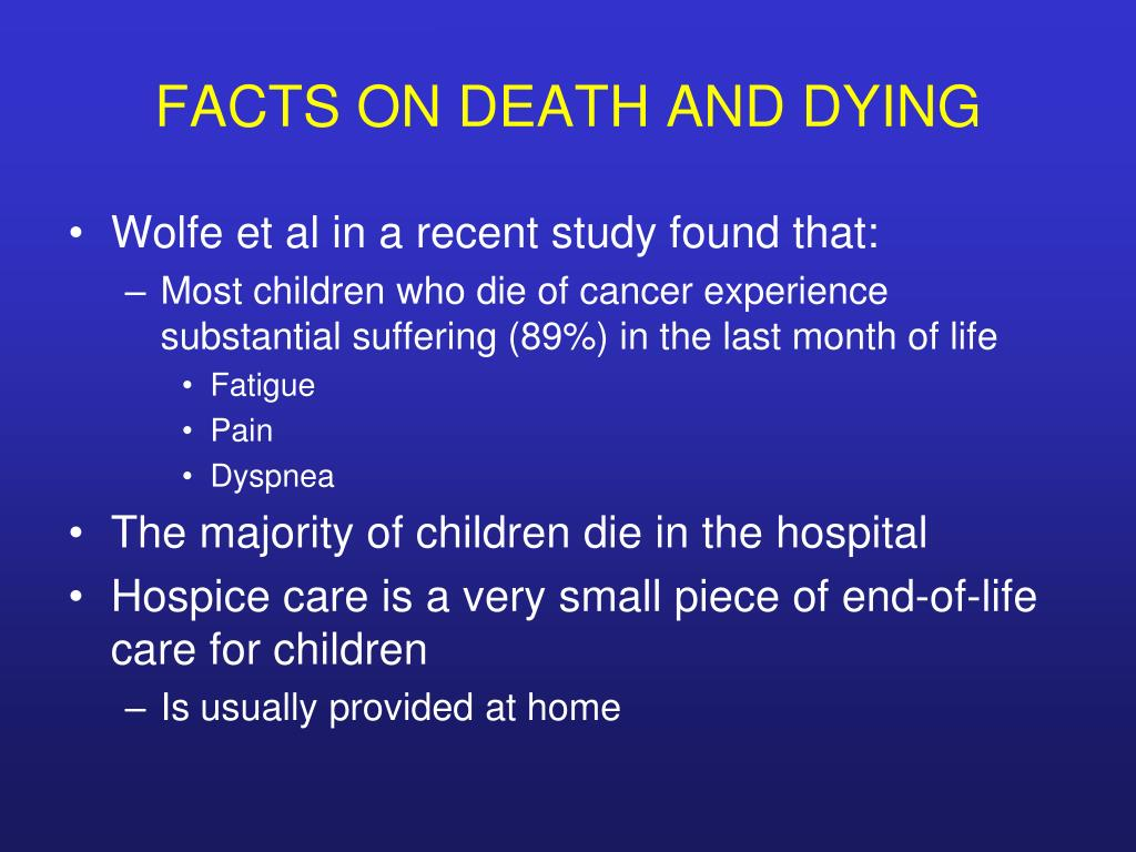 FACTS ON DEATH AND DYING