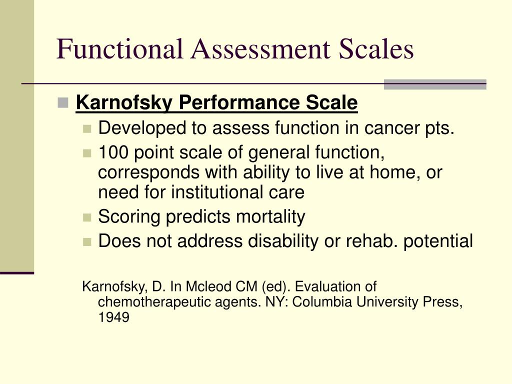 Functional Assessment Scales