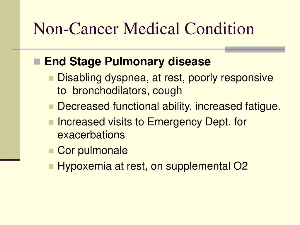Non-Cancer Medical Condition