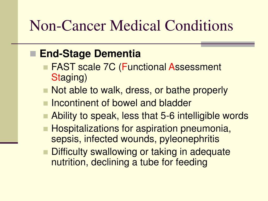 Non-Cancer Medical Conditions