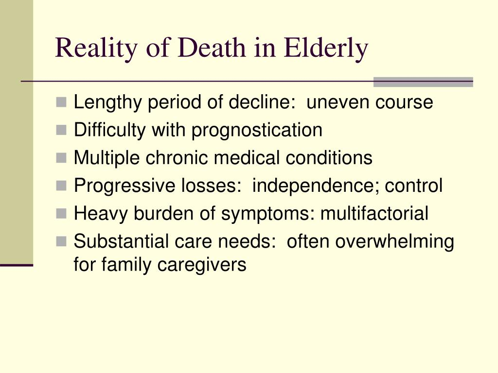 Reality of Death in Elderly