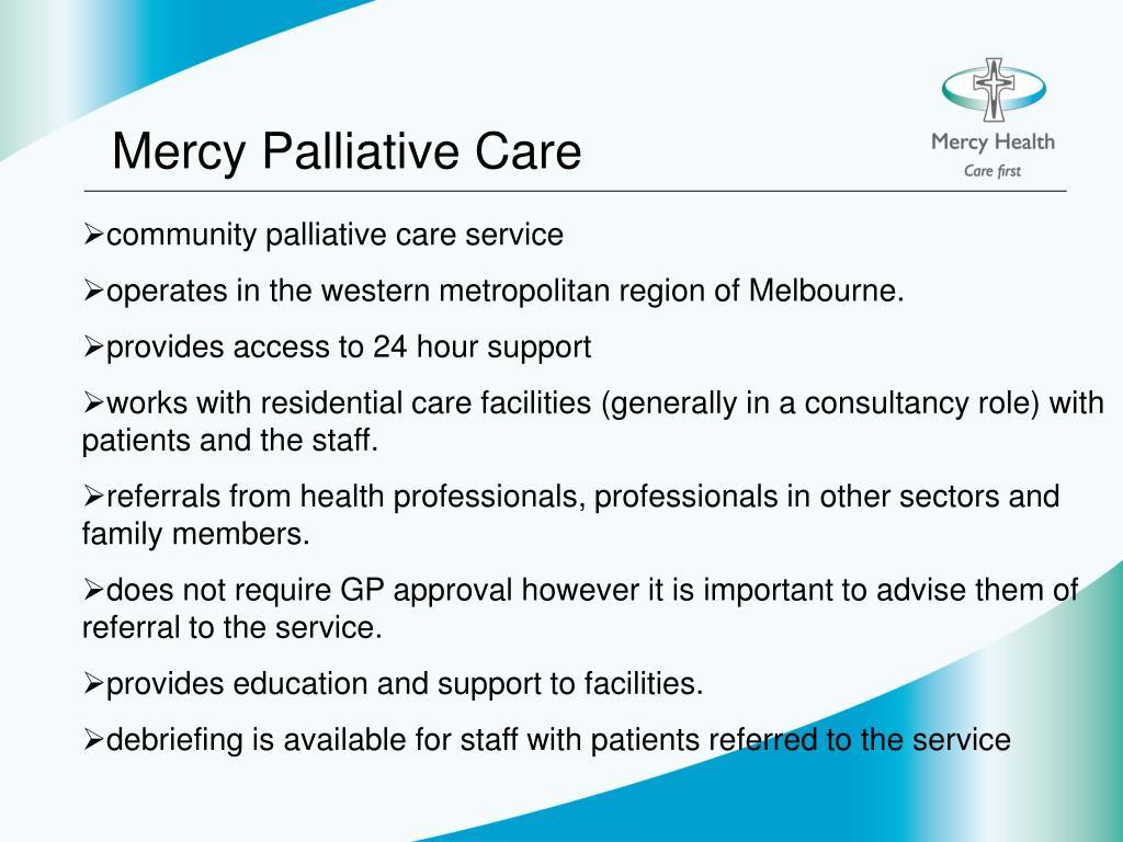 Mercy Palliative Care
