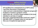 reactive patient journey in last months of life