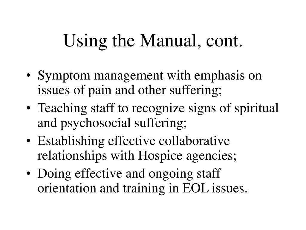 Using the Manual, cont.