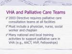 vha and palliative care teams