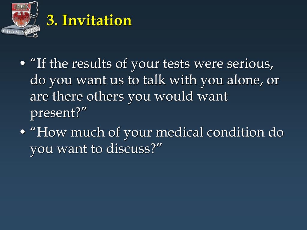 3. Invitation