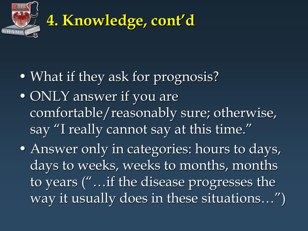 4. Knowledge, cont'd