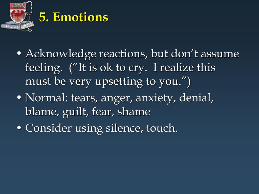 5. Emotions