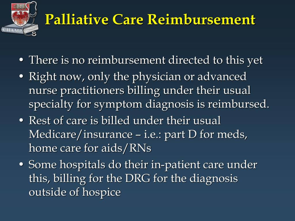Palliative Care Reimbursement