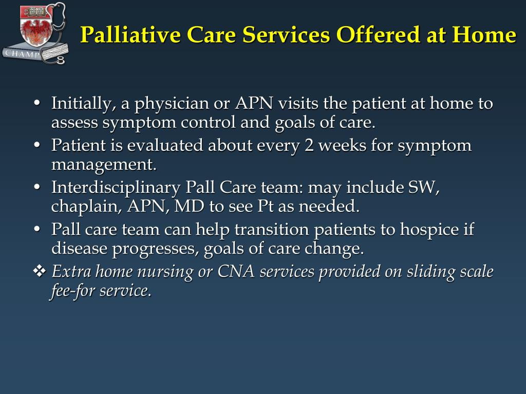 Palliative Care Services Offered at Home