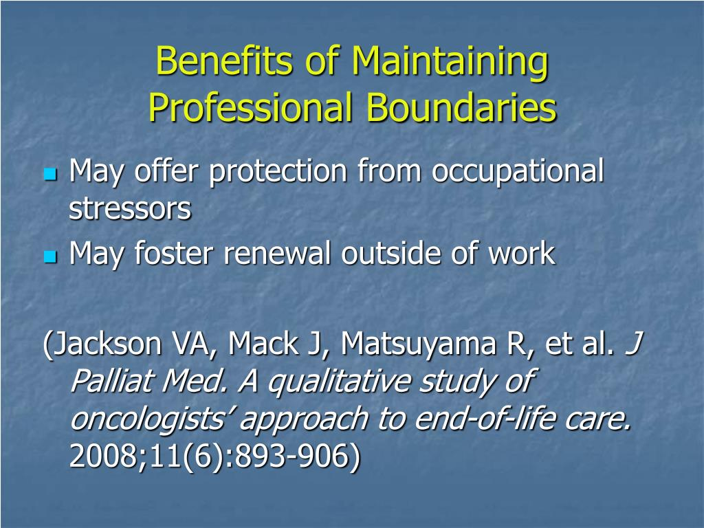 Benefits of Maintaining